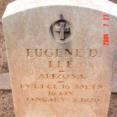 LEE, EUGENE DELMAR - Yavapai County, Arizona | EUGENE DELMAR LEE - Arizona Gravestone Photos