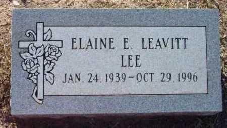 LEAVITT LEE, ELAINE E. - Yavapai County, Arizona   ELAINE E. LEAVITT LEE - Arizona Gravestone Photos