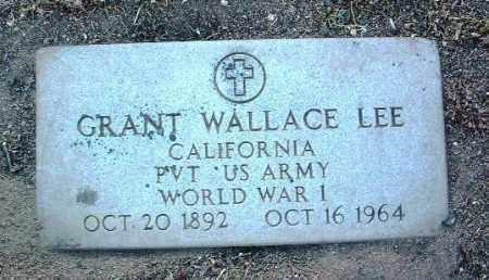 LEE, GRANT WALLACE - Yavapai County, Arizona | GRANT WALLACE LEE - Arizona Gravestone Photos