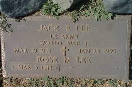 LEE, JACK E. - Yavapai County, Arizona | JACK E. LEE - Arizona Gravestone Photos