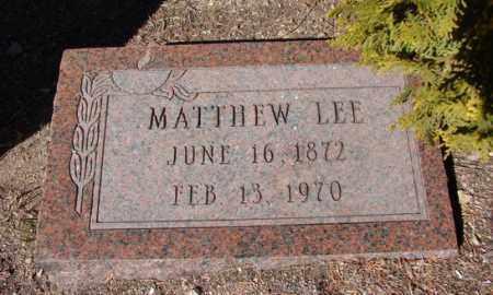 LEE, MATTHEW - Yavapai County, Arizona   MATTHEW LEE - Arizona Gravestone Photos