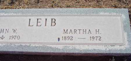 HEATH LEIB, MARTHA H. - Yavapai County, Arizona | MARTHA H. HEATH LEIB - Arizona Gravestone Photos