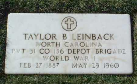 LEINBACK, TAYLOR B. - Yavapai County, Arizona   TAYLOR B. LEINBACK - Arizona Gravestone Photos
