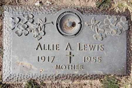 LEWIS, ALLIE A. - Yavapai County, Arizona | ALLIE A. LEWIS - Arizona Gravestone Photos