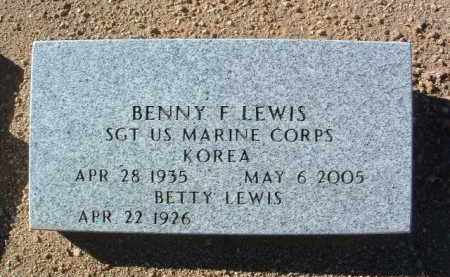 LEWIS, BENNY F. - Yavapai County, Arizona | BENNY F. LEWIS - Arizona Gravestone Photos
