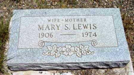 LEWIS, MARY S. - Yavapai County, Arizona | MARY S. LEWIS - Arizona Gravestone Photos