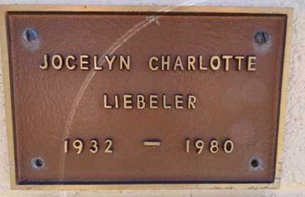LIEBELER, JOCELYN C. - Yavapai County, Arizona | JOCELYN C. LIEBELER - Arizona Gravestone Photos