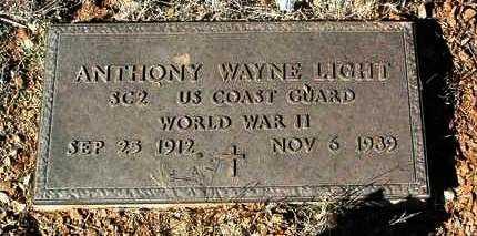 LIGHT, ANTHONY WAYNE - Yavapai County, Arizona | ANTHONY WAYNE LIGHT - Arizona Gravestone Photos