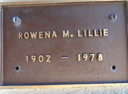 LILLIE, ROWENA MAY - Yavapai County, Arizona | ROWENA MAY LILLIE - Arizona Gravestone Photos
