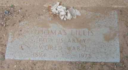 LILLIS, THOMAS - Yavapai County, Arizona | THOMAS LILLIS - Arizona Gravestone Photos