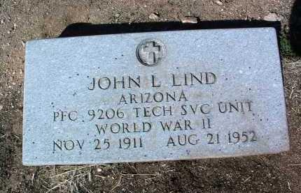 LIND, JOHN LEROY - Yavapai County, Arizona   JOHN LEROY LIND - Arizona Gravestone Photos
