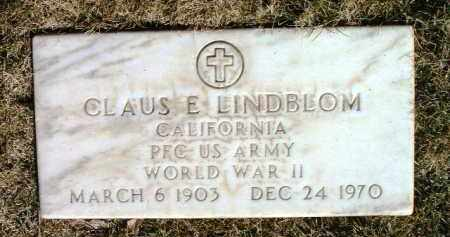LINDBLOM, CLAUS E. - Yavapai County, Arizona | CLAUS E. LINDBLOM - Arizona Gravestone Photos