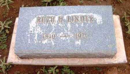 LINDER, RUTH H. - Yavapai County, Arizona | RUTH H. LINDER - Arizona Gravestone Photos