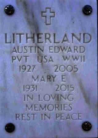 LITHERLAND, AUSTIN EDWARD - Yavapai County, Arizona | AUSTIN EDWARD LITHERLAND - Arizona Gravestone Photos