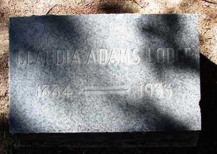 ADAMS LODGE, CLAUDIA A. - Yavapai County, Arizona | CLAUDIA A. ADAMS LODGE - Arizona Gravestone Photos