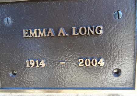 LONG, EMMA A. - Yavapai County, Arizona | EMMA A. LONG - Arizona Gravestone Photos