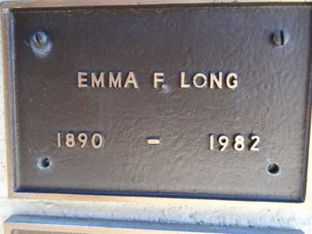 LONG, EMMA F. - Yavapai County, Arizona | EMMA F. LONG - Arizona Gravestone Photos