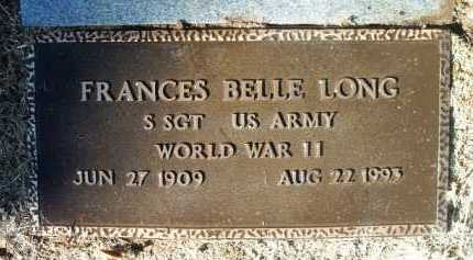LONG, FRANCES BELLE - Yavapai County, Arizona | FRANCES BELLE LONG - Arizona Gravestone Photos
