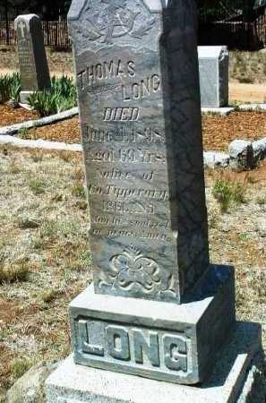 LONG, THOMAS - Yavapai County, Arizona | THOMAS LONG - Arizona Gravestone Photos