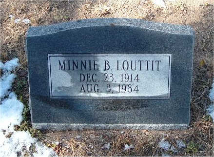 BOGAN LOUTTIT, MINNIE - Yavapai County, Arizona   MINNIE BOGAN LOUTTIT - Arizona Gravestone Photos