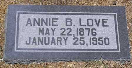 LOVE, ANNA BELL (ANNIE) - Yavapai County, Arizona | ANNA BELL (ANNIE) LOVE - Arizona Gravestone Photos
