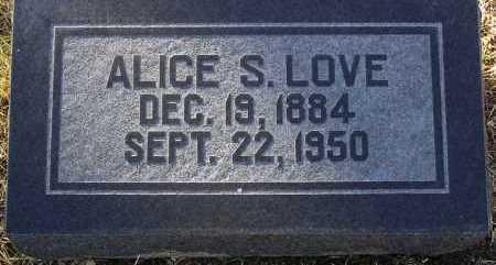 LOVE, ALICE S. - Yavapai County, Arizona | ALICE S. LOVE - Arizona Gravestone Photos