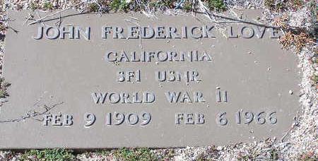 LOVE, JOHN FREDERICK - Yavapai County, Arizona | JOHN FREDERICK LOVE - Arizona Gravestone Photos