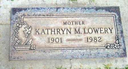 LOWERY, KATHRYN M. - Yavapai County, Arizona | KATHRYN M. LOWERY - Arizona Gravestone Photos