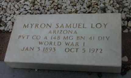 LOY, MYRON SAMUEL (BUDGE) - Yavapai County, Arizona   MYRON SAMUEL (BUDGE) LOY - Arizona Gravestone Photos