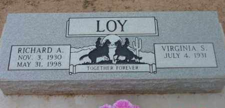 LOY, RICHARD ANSON - Yavapai County, Arizona   RICHARD ANSON LOY - Arizona Gravestone Photos