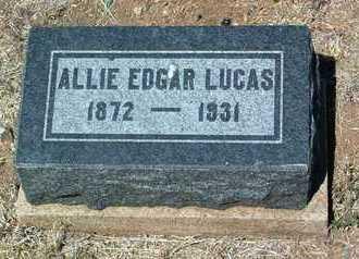LUCAS, ALLIE EDGAR - Yavapai County, Arizona | ALLIE EDGAR LUCAS - Arizona Gravestone Photos