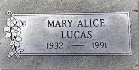LUCAS, MARY ALICE - Yavapai County, Arizona   MARY ALICE LUCAS - Arizona Gravestone Photos