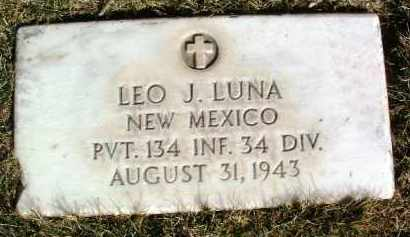 LUNA, LEO JUSTUS - Yavapai County, Arizona | LEO JUSTUS LUNA - Arizona Gravestone Photos