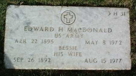 MACDONALD, EDWARD HENRY - Yavapai County, Arizona | EDWARD HENRY MACDONALD - Arizona Gravestone Photos