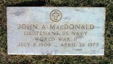 MACDONALD, JOHN A. - Yavapai County, Arizona | JOHN A. MACDONALD - Arizona Gravestone Photos