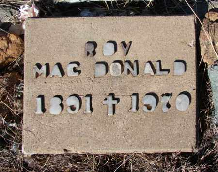 MACDONALD, J. ROY - Yavapai County, Arizona | J. ROY MACDONALD - Arizona Gravestone Photos