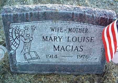 MACIAS, MARY LOUISE - Yavapai County, Arizona | MARY LOUISE MACIAS - Arizona Gravestone Photos