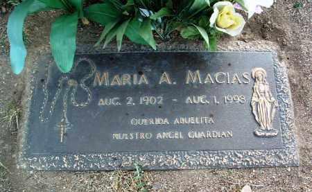 MACIAS, MARIA A. - Yavapai County, Arizona   MARIA A. MACIAS - Arizona Gravestone Photos
