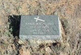 MCGINN MACKLING, ANNA - Yavapai County, Arizona | ANNA MCGINN MACKLING - Arizona Gravestone Photos
