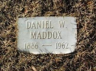 MADDOX, DANIEL WEBSTER - Yavapai County, Arizona | DANIEL WEBSTER MADDOX - Arizona Gravestone Photos