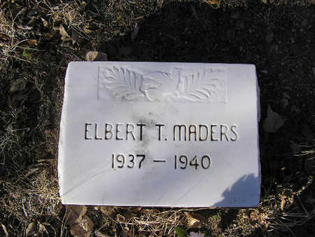MADERS, ELBERT THOMAS - Yavapai County, Arizona | ELBERT THOMAS MADERS - Arizona Gravestone Photos