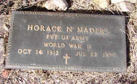 MADERS, HORACE N. - Yavapai County, Arizona   HORACE N. MADERS - Arizona Gravestone Photos