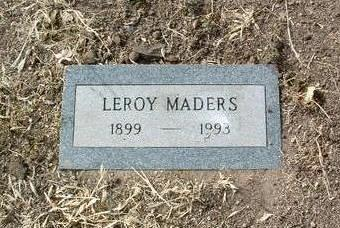 MADERS, LEROY - Yavapai County, Arizona | LEROY MADERS - Arizona Gravestone Photos