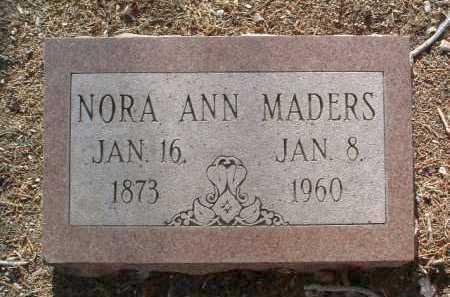 MADERS, NORA ANN - Yavapai County, Arizona | NORA ANN MADERS - Arizona Gravestone Photos