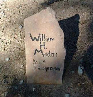 MADERS, WILLIAM HENRY - Yavapai County, Arizona | WILLIAM HENRY MADERS - Arizona Gravestone Photos