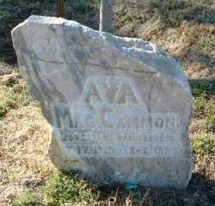 MACCAMMON, AVA - Yavapai County, Arizona | AVA MACCAMMON - Arizona Gravestone Photos