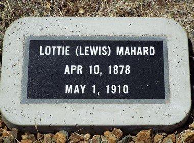 LEWIS MAHARD, LOTTIE - Yavapai County, Arizona | LOTTIE LEWIS MAHARD - Arizona Gravestone Photos