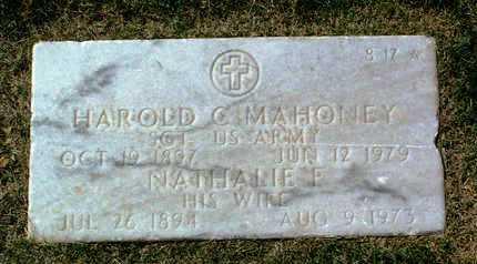 MAHONEY, HAROLD CORNELIUS - Yavapai County, Arizona | HAROLD CORNELIUS MAHONEY - Arizona Gravestone Photos