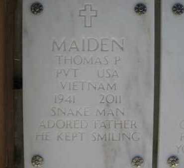 MAIDEN, THOMAS P. (SNAKE MAN) - Yavapai County, Arizona | THOMAS P. (SNAKE MAN) MAIDEN - Arizona Gravestone Photos
