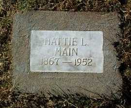 GREENMAN MAIN, HATTIE L. - Yavapai County, Arizona | HATTIE L. GREENMAN MAIN - Arizona Gravestone Photos